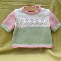 Short-sleeved baby jumper - 18 months