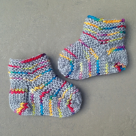 Luxury handknit baby booties - super cosy & soft - 0-3 months - ideal present