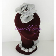 Fascinator & Necklace -custom order- from Necktie - keepsake