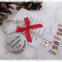 Santa's Magic Key, Father Christmas Key, Handstamped
