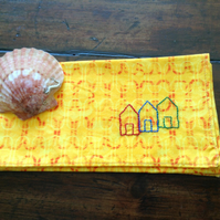 Beach Hut Handkerchief
