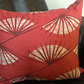 Red Geometric Fanned Cushion