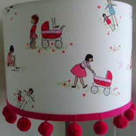 Lets Play Childrens Handmade Lampshade 30cm Drum