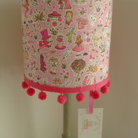 Liberty Tana Lawn- Gally Moggers Handmade Childrens Lampshade 20cm Drum