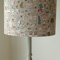 Liberty Tana Lawn- Gally Moggers Handmade Childrens 25cm ceiling Lampshade