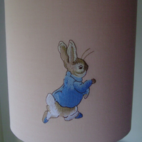 Beatrix Potter Peter Rabbit  - Embroidered Nursery Table Lampshade 20cm Drum