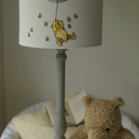 Winnie The Pooh and Piglet  - Embroidered Nursery Table Lampshade 20cm Drum