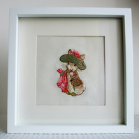 Beatrix Potter-  Benjamin Bunny Embroidered Handmade Nursery Picture