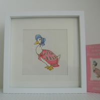 Beatrix Potter - Jemima Puddle Duck Embroidered Nursery Picture