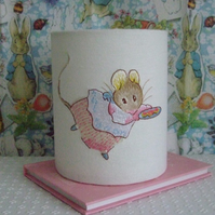 Beatrix Potter - Mrs Tittle Mouse  Embroidered  Nursery Night Light