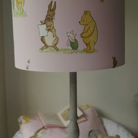 Winnie The Pooh and Friends- Handmade Nursery Ceiling Lampshade 30cm Drum