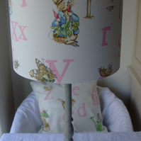 Beatrix Potter Peter Rabbit - Handmade Nursery Ceiling Lampshade 30cm Drum