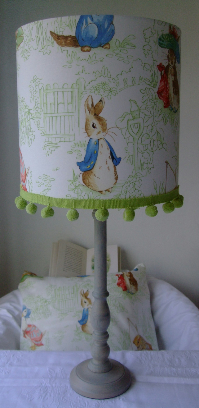 Beatrix potter Peter Rabbit  Nursery Tales - Handmade Nursery Table Lampshade
