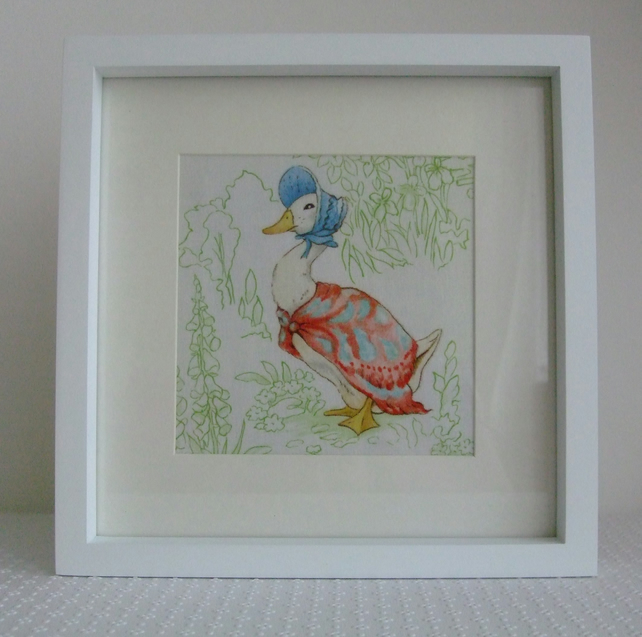 Beatrix potter Nursery Tales Jemima Puddle Duck - Handmade Nursery Picture