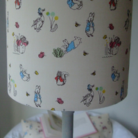 Beatrix Potter Peter Rabbit- Handmade Table Lampshade