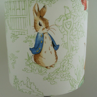 Beatrix Potter  - Nursery Tales Handmade Nursery table Lampshade 20cm Drum