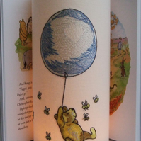 Winnie The Pooh - Embroidered Handmade Nursery Night Light