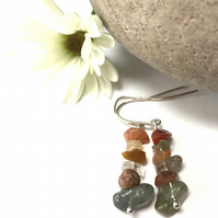 Sterling Silver Mixed Quartz Earrings