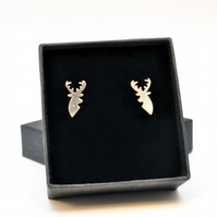 Sterling silver Stag ear studs