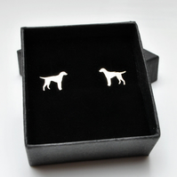 Sterling silver labrador ear studs