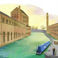 A4 Print Salts Mill Printed Illustration