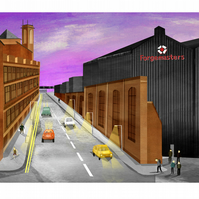 Forgemasters Sheffield A4 Print,steel industry,iconic buildings,gifts,wall art