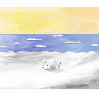 A4 Illustration of a Polar Bear Family