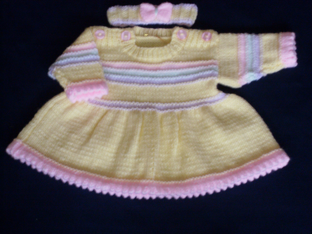 "14"" Newborn Dress & Headband"