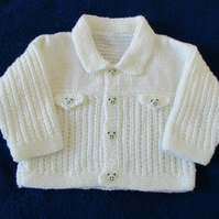 "18"" Boys cardigan with Collar"
