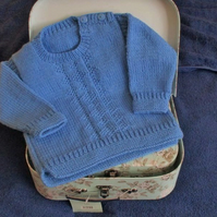 "18"" Baby Boys Round Neck Jumper"