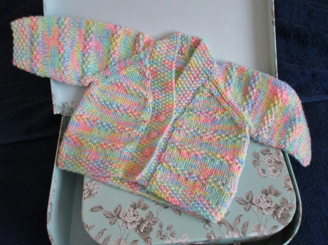 "14"" Newborn Multicoloured V Neck Cardigan"