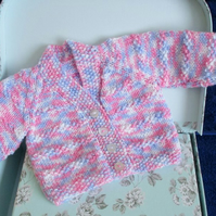 "REDUCED 14"" Newborn Multicoloured V Neck Cardigan"