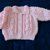 "16"" Baby Pink Jacket with Collar"