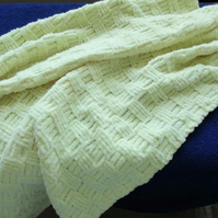 Lemon Textured Baby Blanket