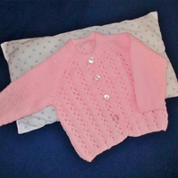 "16"" Lace Patterned Cardigan"