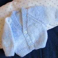 "14"" Newborn Blue Mix Cardigan"