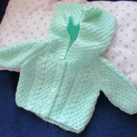 Dolls Aran Style Jacket with Hood