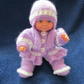 "8"" Dressed for Winter Baby Doll"