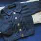 "18"" Boys Wool Blend Cardigan with Collar"