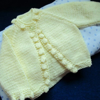 "14"" Newborn Bobble Edged Cardigan"