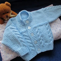 "16"" Baby Boys Cable Cardigan"