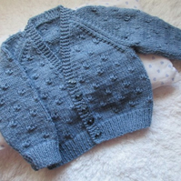 "18"" Boys V Neck Knots Cardigan"