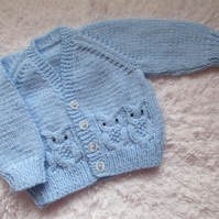 "16"" Baby Boys V Neck Owl Cardigan"