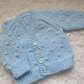 "14"" Newborn Boys Knots Patterned Cardigan"