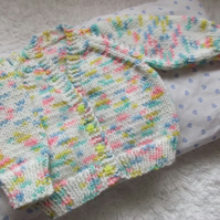 "14"" Newborn V Neck Cardigan"