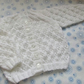 "18"" White Round Neck Lace Cardigan"