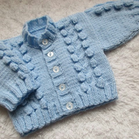 "14"" Cable & Bobbles Cardigan"