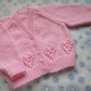 "16"" V Neck Hearts Cardigan"