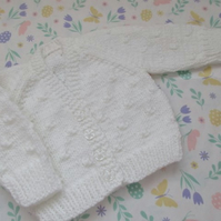 "14"" Newborn Knots Patterned Cardigan"