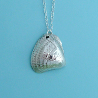 Fine Silver Seashell Pendant Necklace